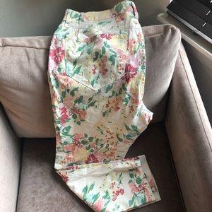NYDJ Ankle floral pants